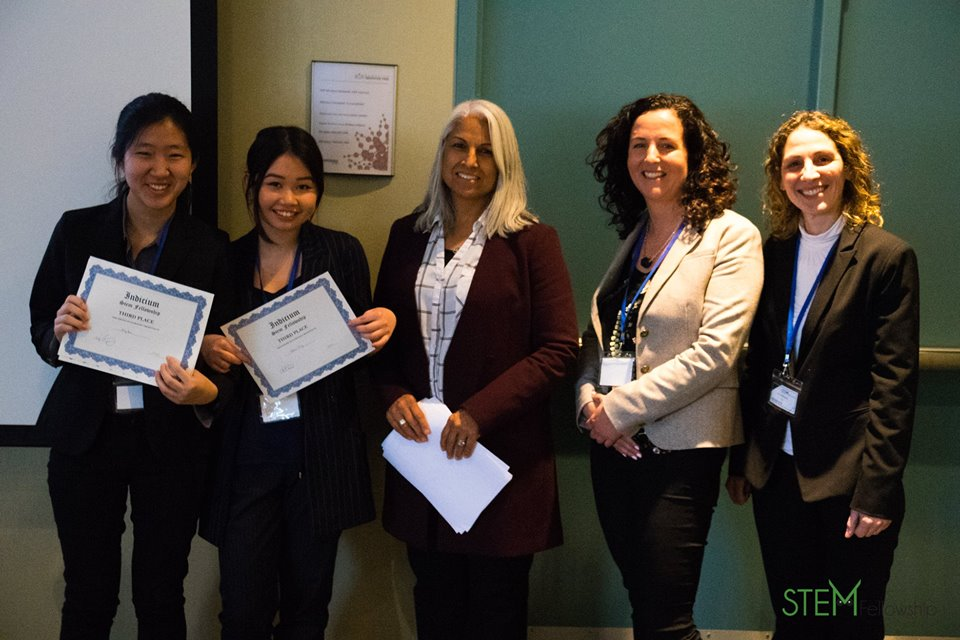 Emily Ham and Queenie Zeng at STEM Fellowship Indicium Competition